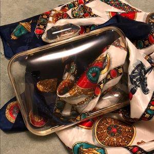 Handbags - Clear box clutch